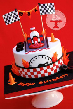 Go-Karting Cake