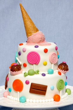 Candy and Ice Cream Cake