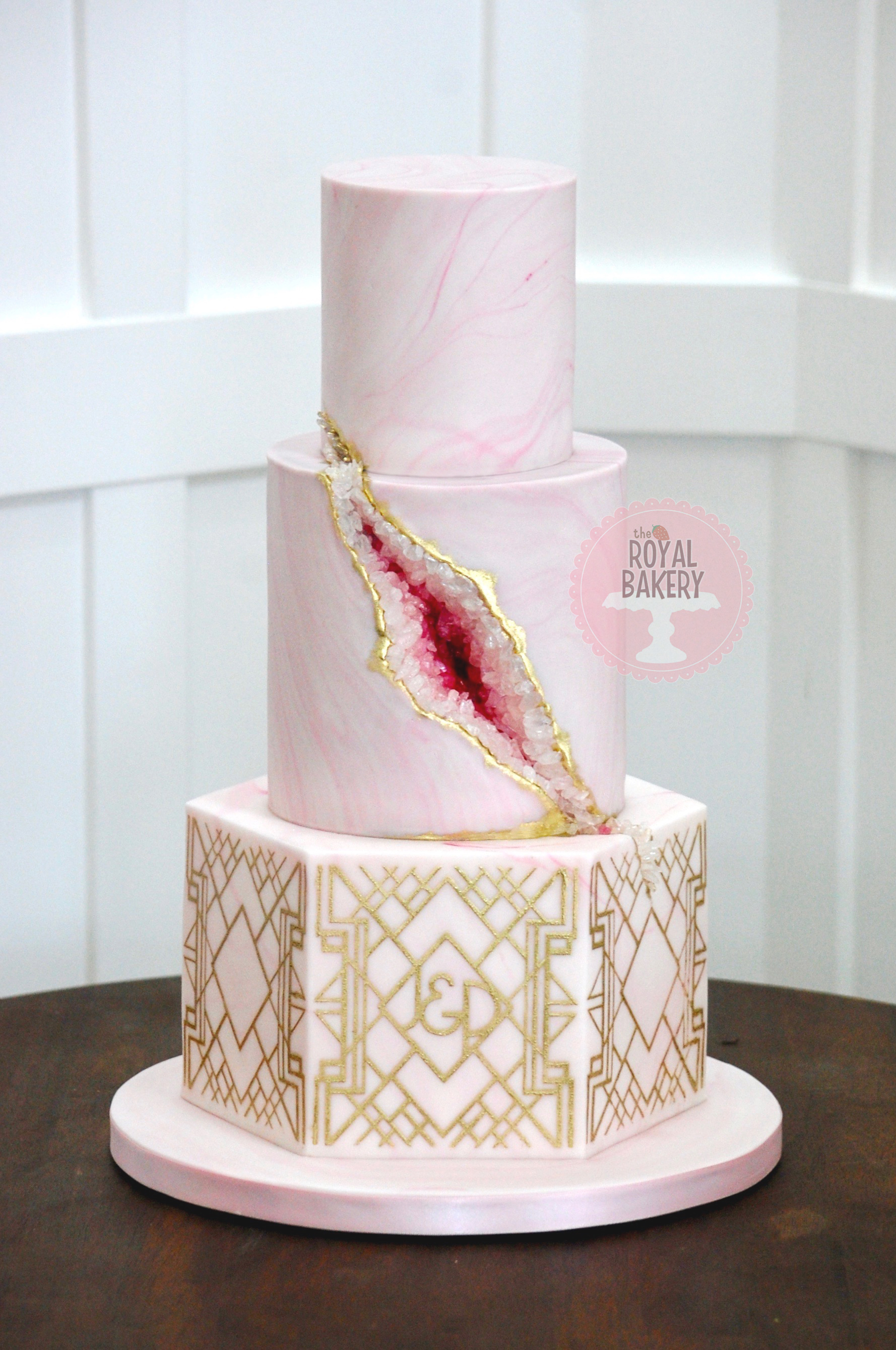 Art Deco Geode Wedding Cake
