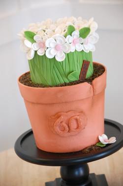 Pot of Flowers Cake