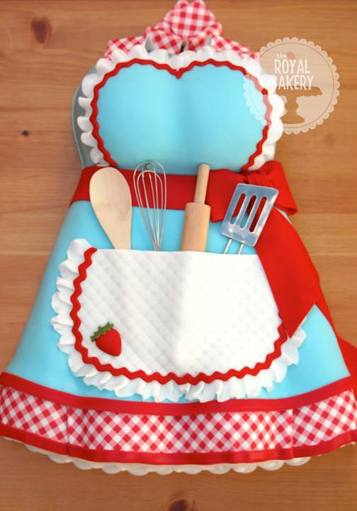 Kitchen Tea Apron Cake