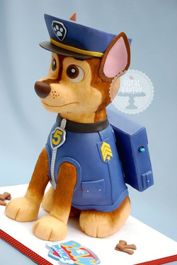 Chase from Paw Patrol Cake