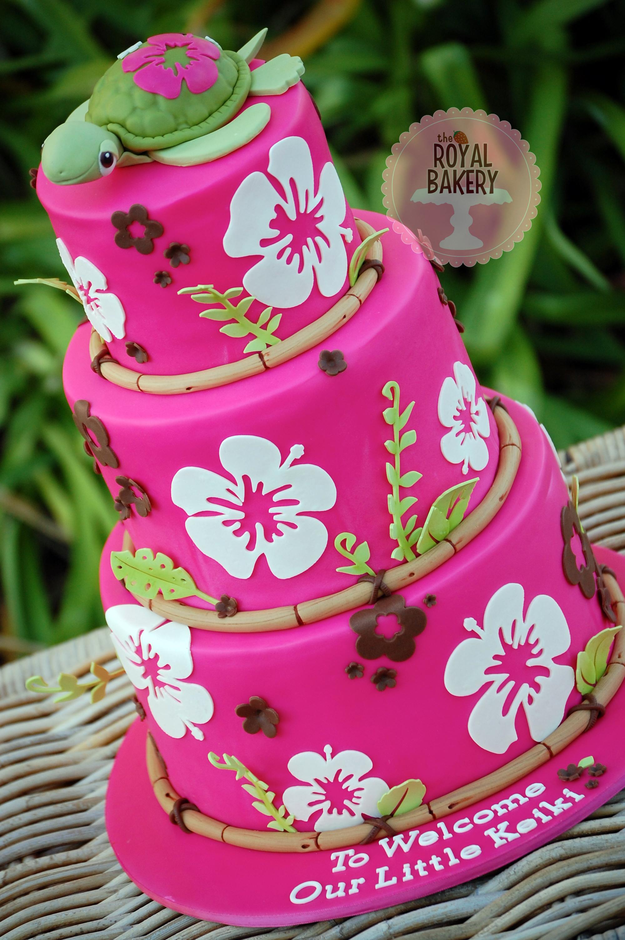 Hot Pink Hibiscus Cake