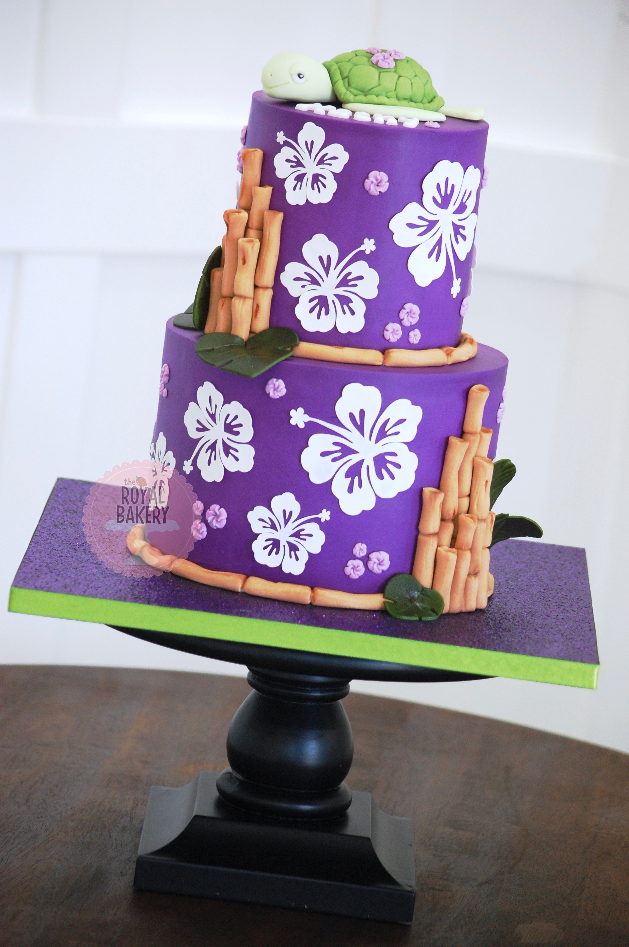 Purple Hibiscus Cake