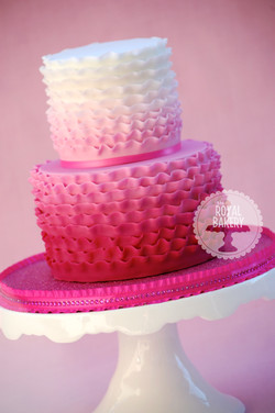 Ombre Ruffles Cake