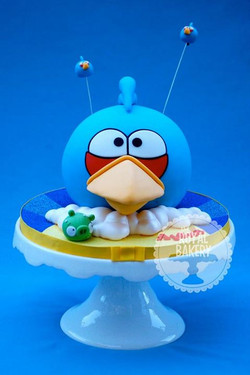 Blue Angry Bird Cake