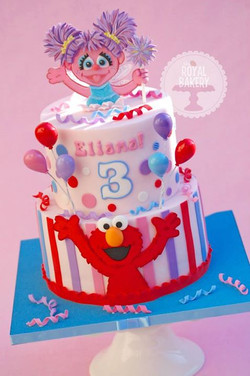 Elmo and Abby Cadabby Cake