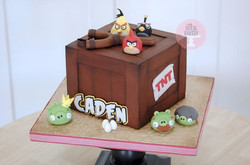 Angry Birds Crate Cake