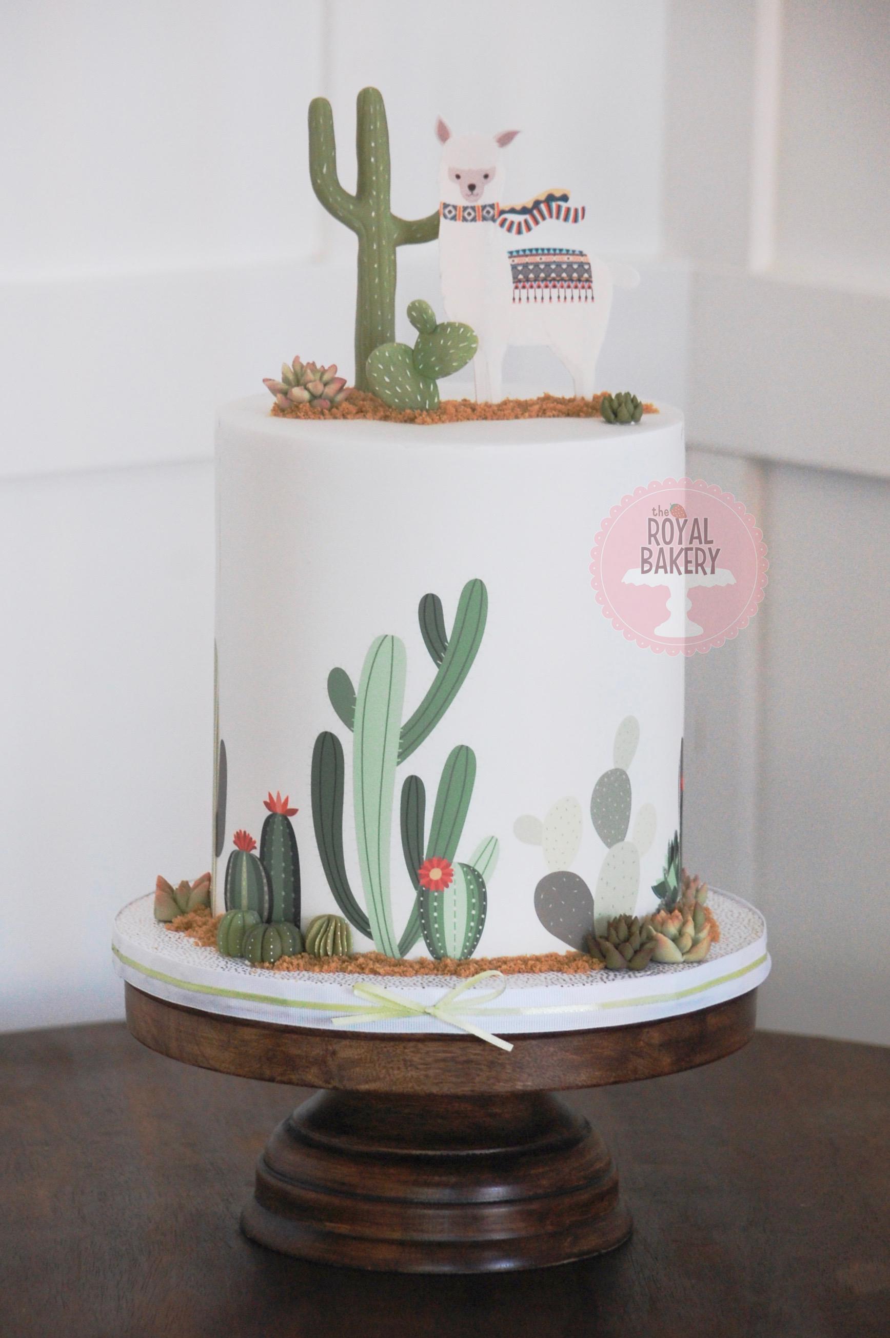 Mama Llama Baby Shower Cake