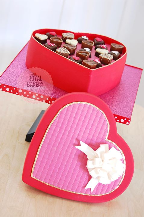 Valentine's Chocolate Box Cake