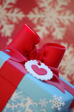 Christmas Gift Box Cake