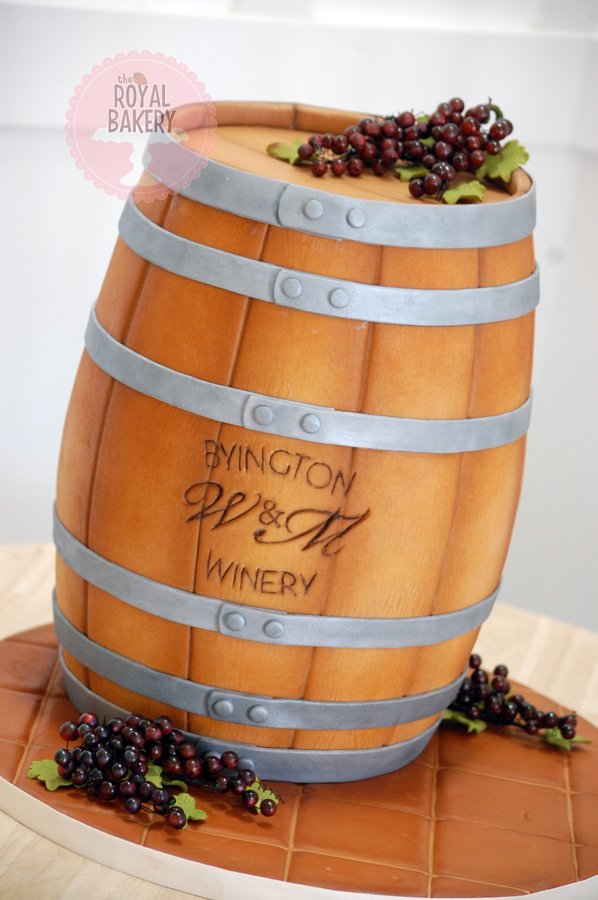 Winery Barrel Wedding Cake