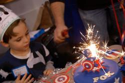 Captain America cake.