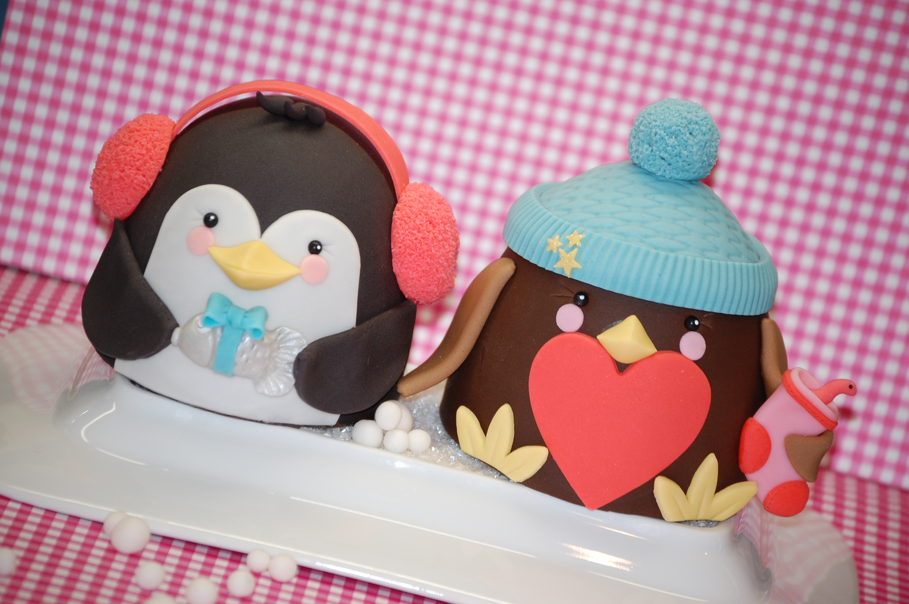 Cute Bird Mini Christmas Cakes