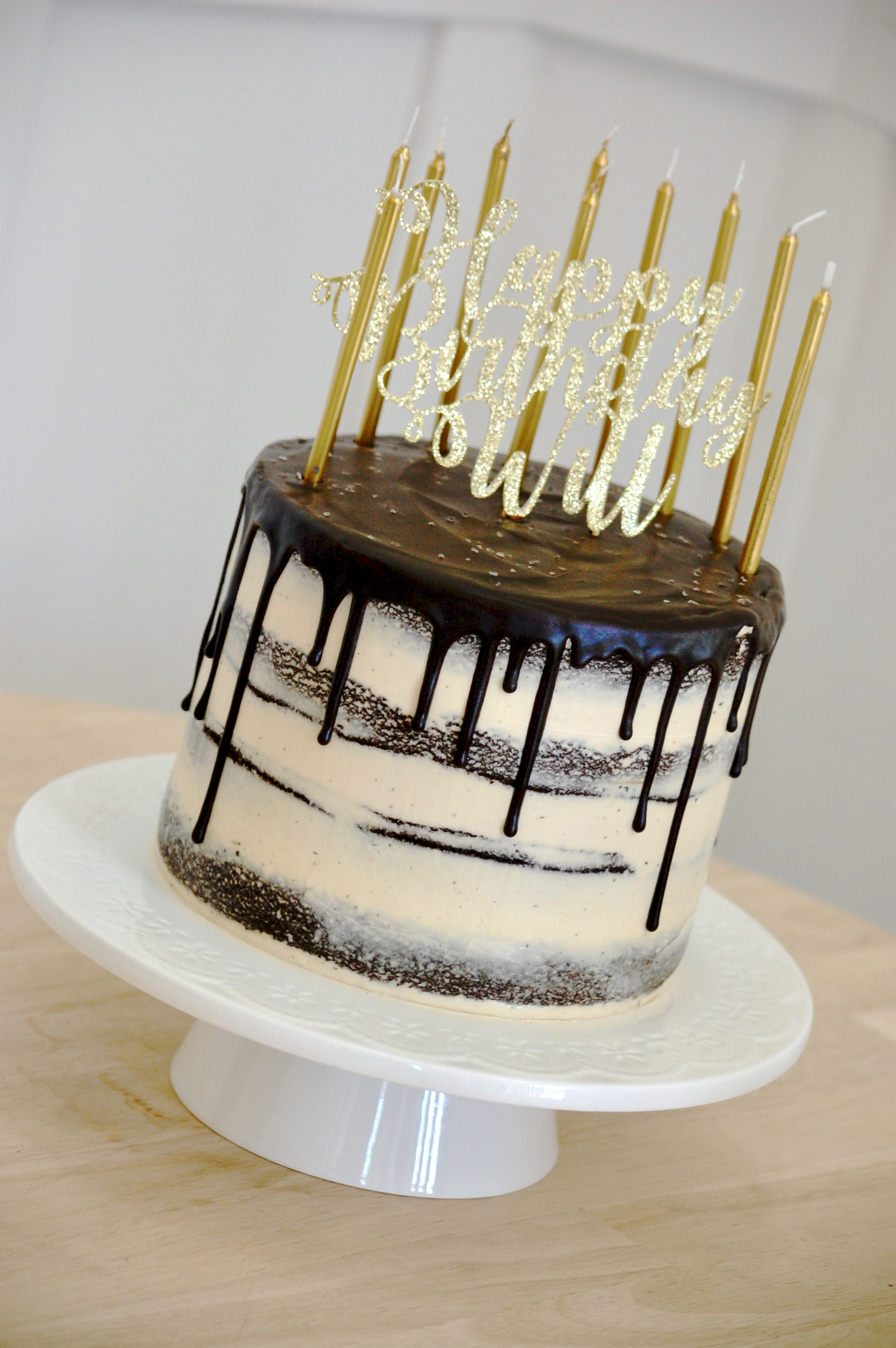 Drippy Naked Cake