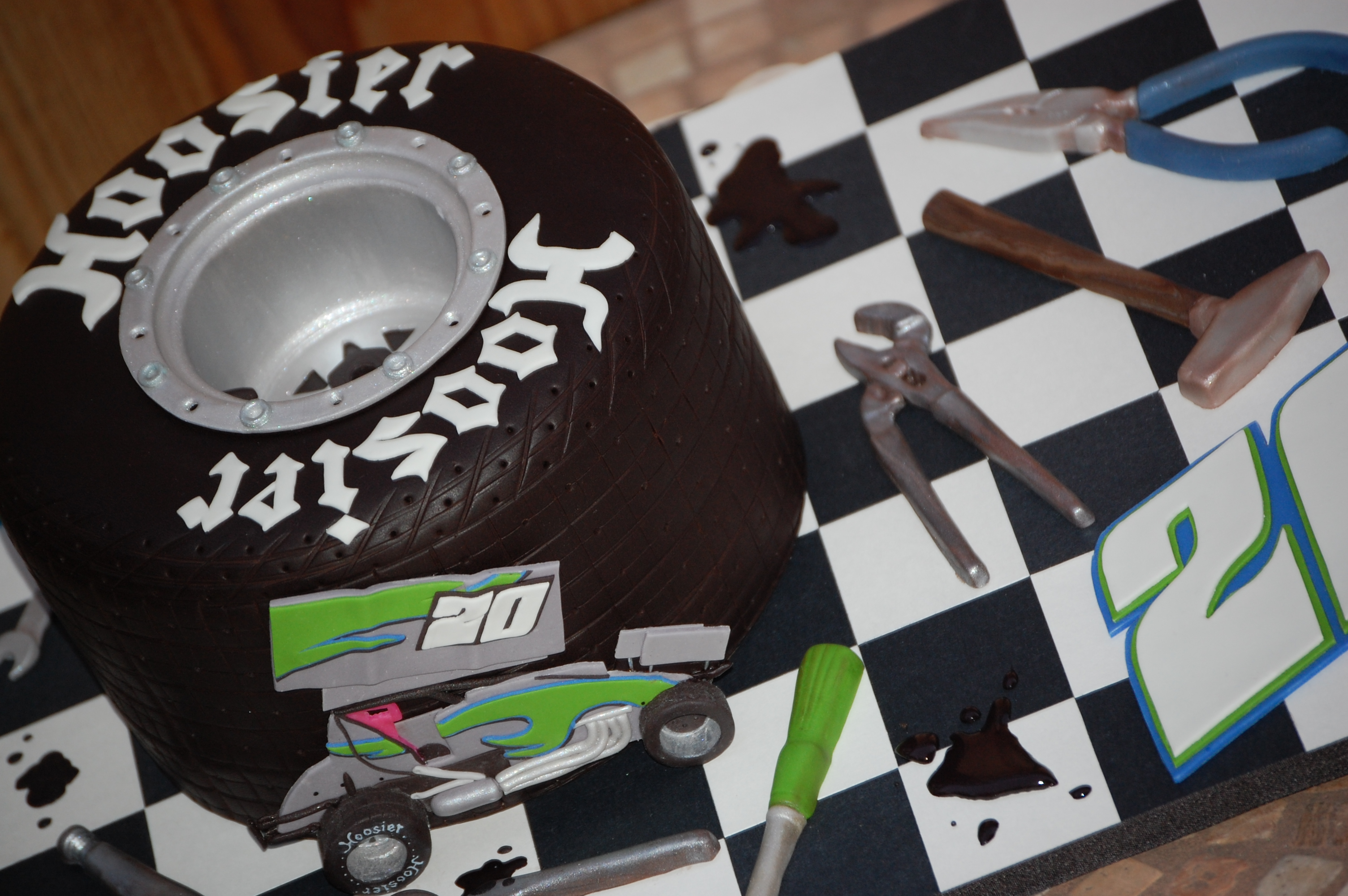 Hoosier Tire Groom's Cake