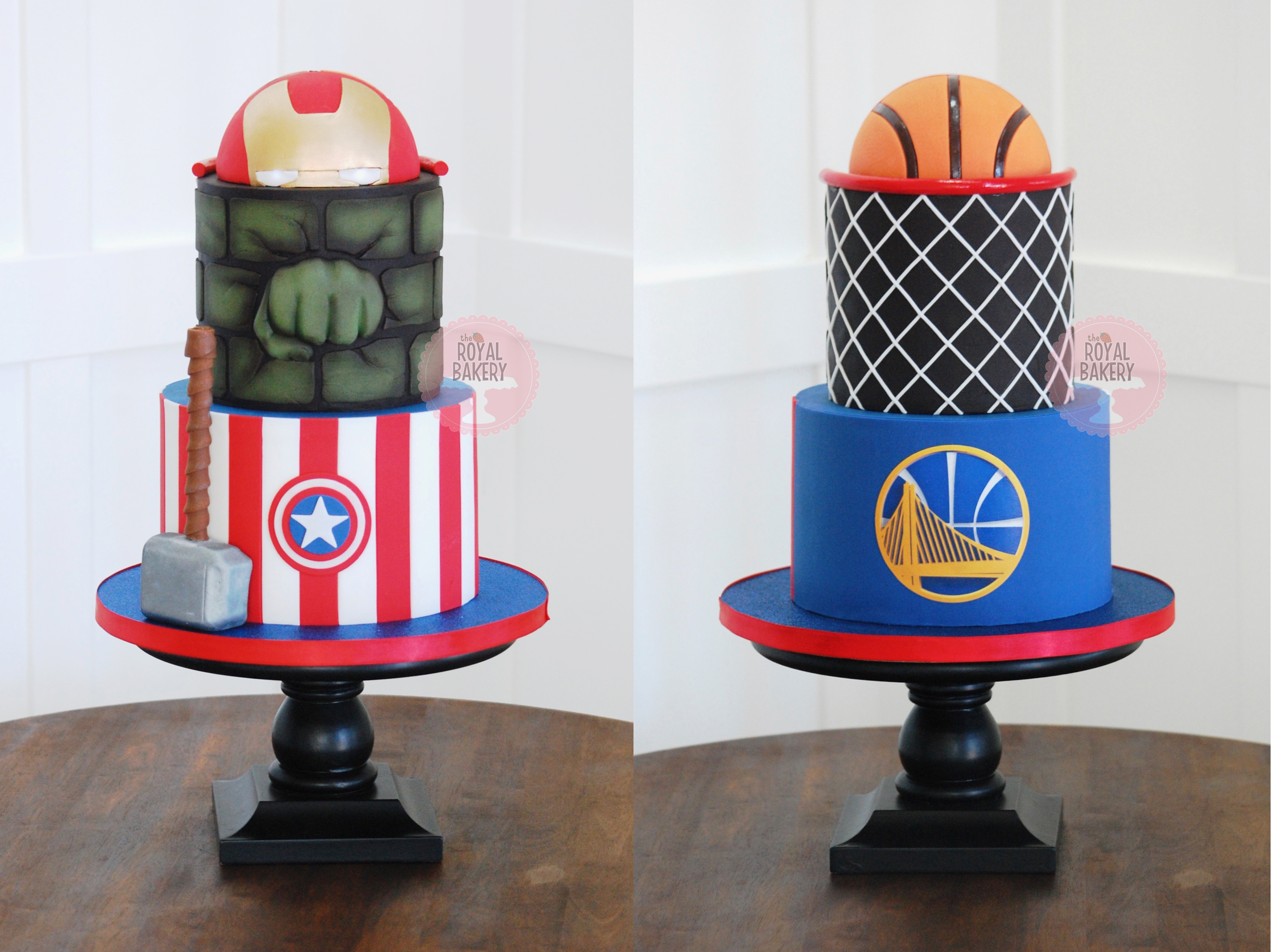 Double-Sided Avengers and Basketball Cake