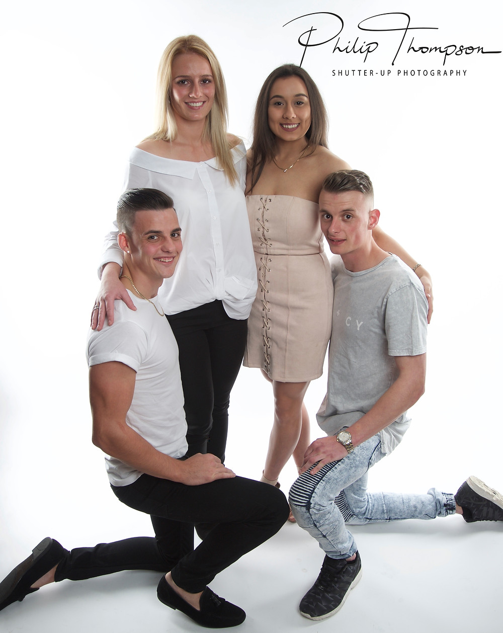 The birthday boy Ronnie was joined in the shoot by his Brother Tony and their partners Danijela and Ebony.