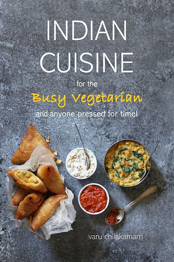 Cover paperback for Indian Cuisine for the Busy Vegetarian