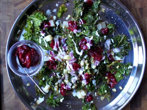 Cranberry Crunch Chaat Salad