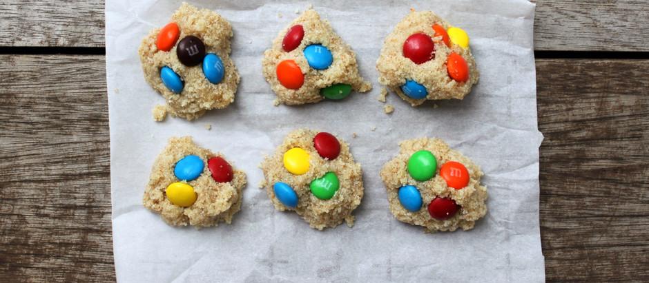 Instant M&M Cookie Bites