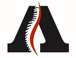"""Chiropractic logo for Anthony Chiropractic utilizing the letter """"A"""""""