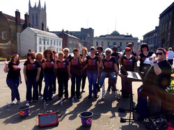 Busking in Bury St. Edmunds