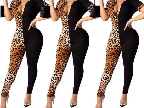 Leopard & Black Jumpsuit