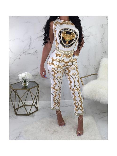 Versace Inspired Printed Capri Jumper