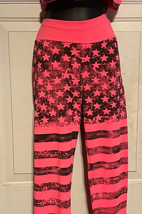 4th of July 2pc Pants Set (Pink)