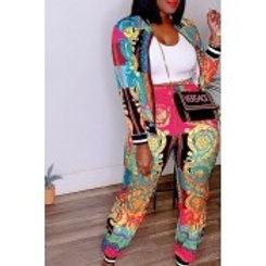 Versace Inspired Print 2pc Pants Set