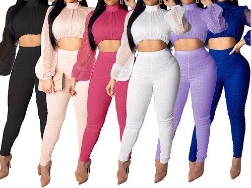 Purple 2pc Lace Set