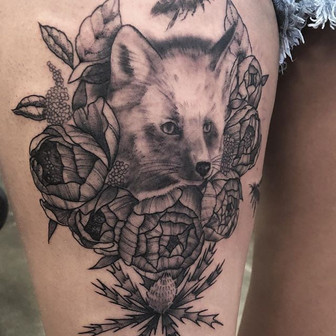 Low Bar Ink_Black and Grey Fox with Plan