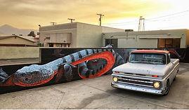 Laura Weinberger, mural, snake, painting, burbank