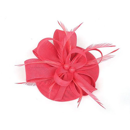Coral fascinator on band