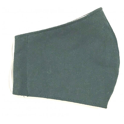Curved cotton face mask green