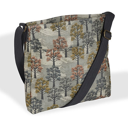 Willow tree oilcloth crossbody bag