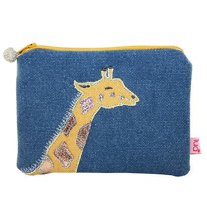 Giraffe purse in denim