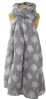 Mulberry tree scarf in grey