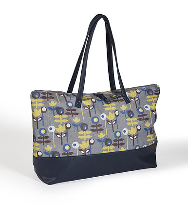 Scandi oilcloth overnight bag