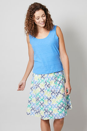 Geo floral skirt in blue