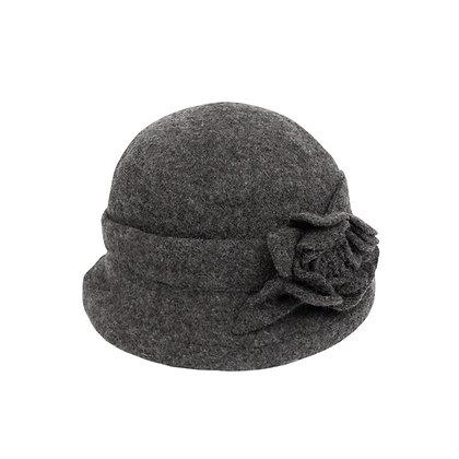 Faye cloche hat in charcoal