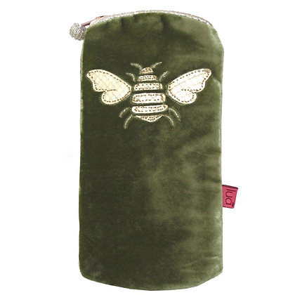 Velvet Bee glasses purse in green
