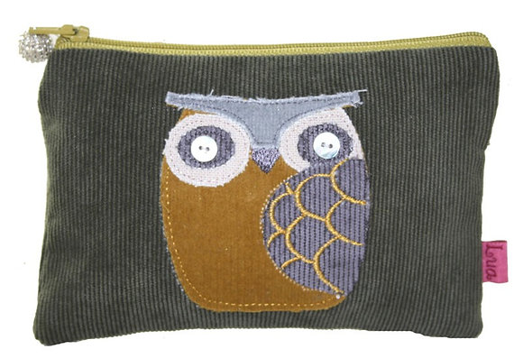 Owl coin purse in khaki