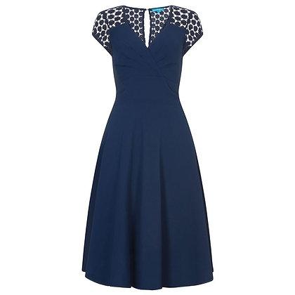 Fiona dress in navy