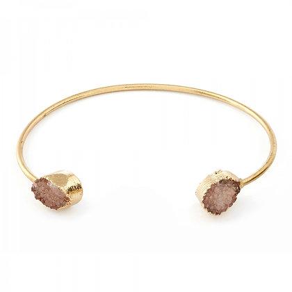 Druzy stone adjustable bracelet