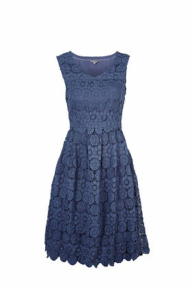 Summer Lace dress in ocean teal