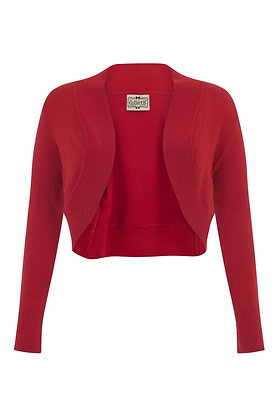 Retro knit bolero in red