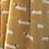 Thumbnail: Sausage dog print scarf in mustard