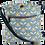 Thumbnail: Oilcloth cross body bag with hand drawn petal print